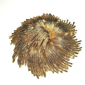 Vtg Monet Gold Brooch Cordelia Tassel Pin 1970s